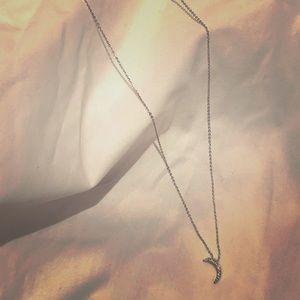 ✨SILVER DIAMOND MOON NECKLACE✨🌙